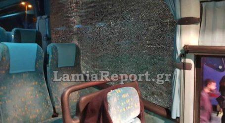 Πέταξαν πέτρες σε λεωφορείο του ΚΤΕΛ στη Λαμία