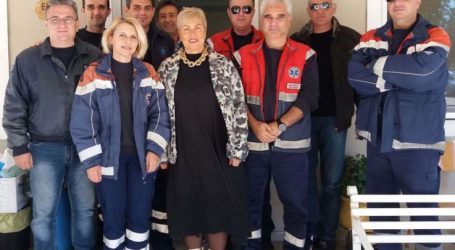 Στην Καρδίτσα για συνάντηση με τους εργαζόμενους η διευθύντρια του ΕΚΑΒ Λάρισας