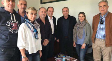 Τον Δ/ντη Π.Ε. Λάρισας επισκέφθηκε το Δ.Σ. του Συλλόγου Εκπαιδευτικών Π.Ε. Λάρισας