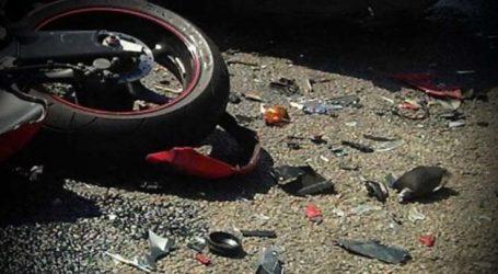 Σοβαρά τραυματισμένος οδηγός μηχανής σε τροχαίο στη Λάρισα