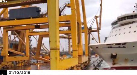 Πλοίο έπεσε σε γερανό στο λιμάνι της πόλης