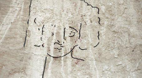 Άγνωστη εικόνα με το πρόσωπο του Ιησού σε εκκλησία