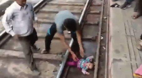 Κοριτσάκι βγήκε ζωντανό από πτώση του σε γραμμές τρένου