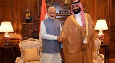 Συνάντηση του Σαουδάραβα πρίγκιπα διαδόχου με τον Ινδό πρωθυπουργό