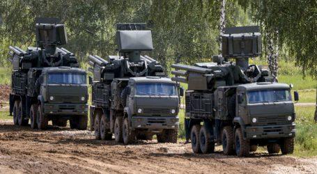 Συστοιχία του πυραυλικού συστήματος Pantsir-S αναπτύχθηκε στην Κριμαία