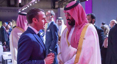 Συνάντηση Μακρόν με τον Σαουδάραβα πρίγκιπα Σαλμάν