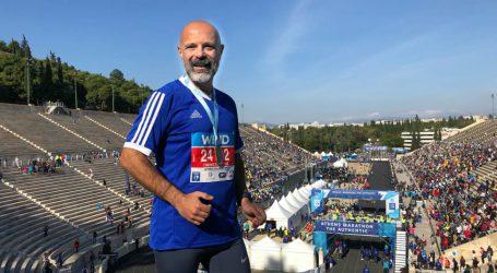 Ρεκόρ για τον πρόεδρο των Συμβολαιογράφων στον Μαραθώνιο της Αθήνας