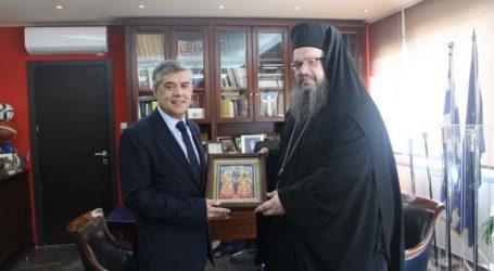 Συνάντηση Περιφερειάρχη Θεσσαλίας με νέο Μητροπολίτη Λαρίσης και Τυρνάβου