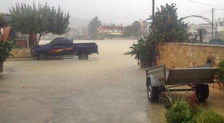 Πλημμύρισαν περιοχές της Ζακύνθου