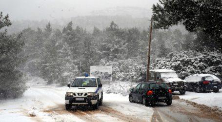 ΤΩΡΑ: Σε ποιους δρόμους του Πηλίου χρειάζονται αλυσίδες λόγω χιονιού