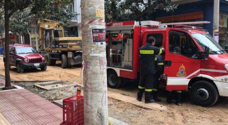 Φλεγόμενος απορροφητήρας αναστάτωσε το κέντρο της Λάρισας (φωτό)
