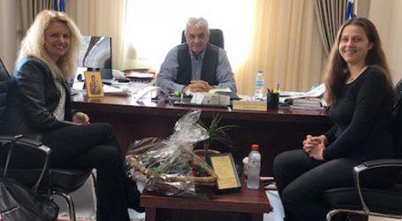 Επίσκεψη στον Δήμαρχο Τεμπών Κώστα Κολλάτο πραγματοποίησεο Σύλλογος Γυναικών Πυργετού