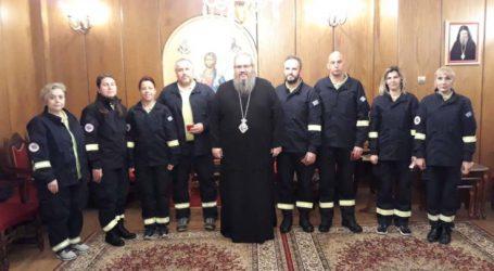 Εθιμοτυπική επίσκεψη Εθελοντών ΕΟΔΥΑ στο Μητροπολίτη Λαρίσης & Τυρνάβου κ. Ιερώνυμο