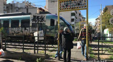 Εικόνες από τα Σεπόλια όπου μία γυναίκα παρασύρθηκε από τρένο