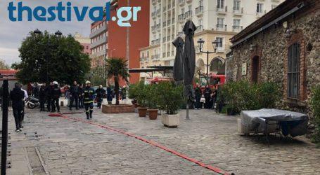 Φωτιά σε κατάστημα στο κέντρο της Θεσσαλονίκης