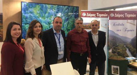 Το περίπτερο του Δήμου Τεμπών επισκέφθηκε ο υπεύθυνος επενδύσεων της Νομαρχίας Σμύρνης της Τουρκίας