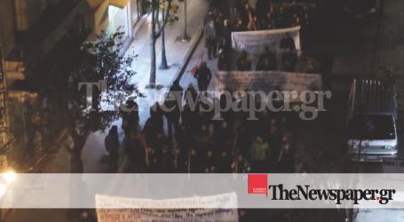 Σε εξέλιξη η πορεία για τον Γρηγορόπουλο στο κέντρο του Βόλου [εικόνες]