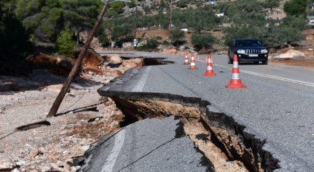 Συνεχίζονται τα έργα αποκατάστασης των ζημιών στη Μάνδρα