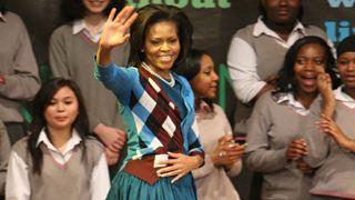 Υποδοχή ροκ σταρ για τη Μισέλ Ομπάμα από μαθητές στο Λονδίνο