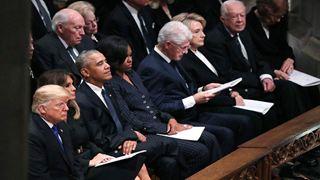 Παρουσία Τραμπ και 4 πρώην προέδρων των ΗΠΑ, η Αμερική αποχαιρετά τον Τζορτζ Χ. Ου. Μπους