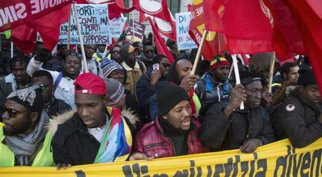 Χιλιάδες διαδηλωτές πραγματοποίησαν πορεία στη Ρώμη υπέρ των δικαιωμάτων των μεταναστών
