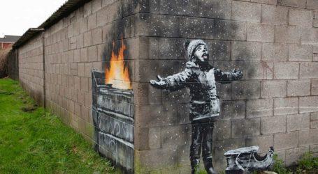 Η νέα τοιχογραφία του Μπάνκσι στο Πορτ Τάλμποτ της Ουαλίας