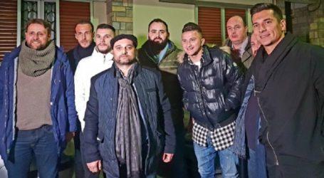 Στο σπίτι του Τζήλου ο Ζήσης Ντελόπουλος με στελέχη της ΑΕΛ