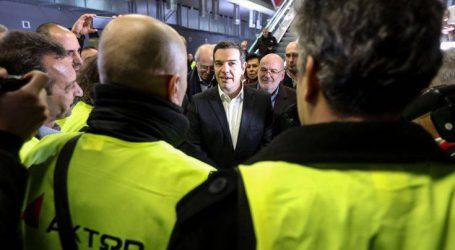 Τι είπαν οι εργαζόμενοι του μετρό Θεσσαλονίκης για την επίσκεψη του πρωθυπουργού