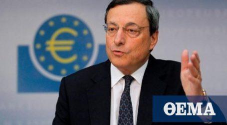 «Σύννεφα» στην Ευρωζώνη βλέπει ο Ντράγκι