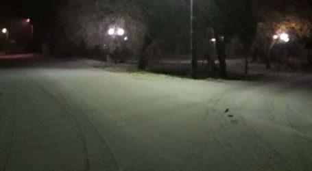 Ξεκίνησε να χιονίζει στην επαρχία Φαρσάλων – Δείτε φωτογραφία