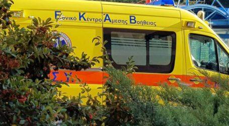 Τροχαίο στον κόμβο του Μηχανολογικού έξω από τη Λάρισα – Μία γυναίκα τραυματίας