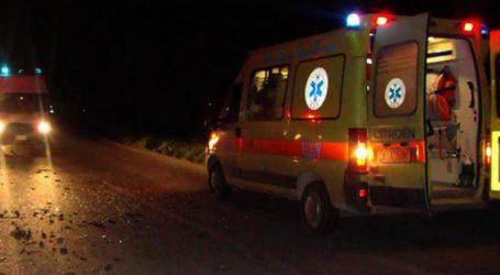 Στο Πανεπιστημιακό Νοσοκομείο Λάρισας άνδρας μετά από εκτροπή αυτοκινήτου στα Φάρσαλα