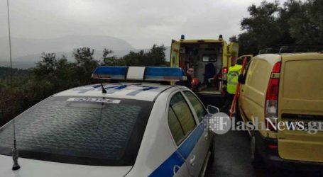 Ανατροπή αυτοκινήτου με εγκλωβισμό του οδηγού στα Χανιά