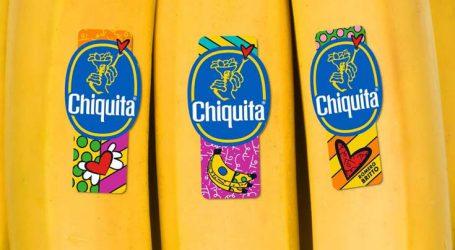 Νέα αυτοκόλλητο στις μπανάνες Chiquita από τον Romero Britto