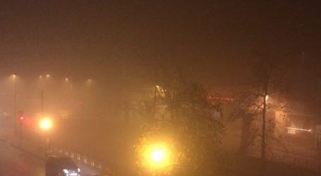 «Στο κόκκινο» η αιθαλομίχλη απόψε στον Βόλο