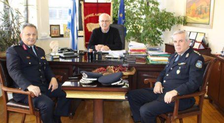 Με την νέα ηγεσία της ΕΛΑΣ στη Λάρισα συναντήθηκε ο Απόστολος Καλογιάννης