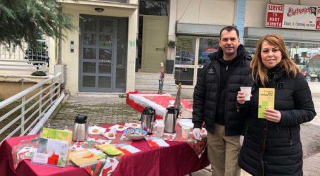 """Ζεστός καφές, γλυκό και ενημέρωση από το ΚΕΘΕΑ """"Έξοδος' στη Λάρισα"""