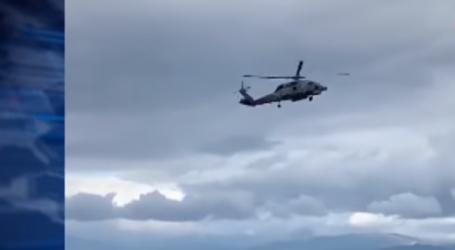 Ελικόπτερο στο Αίγιο στο έλεος των ισχυρών ανέμων