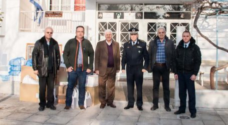 Οι Αστυνομικές Υπηρεσίες της Θεσσαλίας προσέφεραν τρόφιμα, ρούχα και άλλα είδη σε κοινωφελή ιδρύματα και φορείς