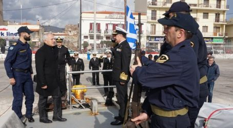Επίσκεψη του ΥΕΘΑ Ευάγγελου Αποστολάκη στη Χίο