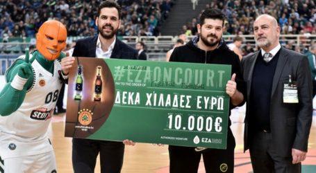 Ο μεγάλος νικητής του «Eza On Court» της Ελληνικής Ζυθοποιίας Αταλάντης παρέλαβε την επιταγή των €10.000