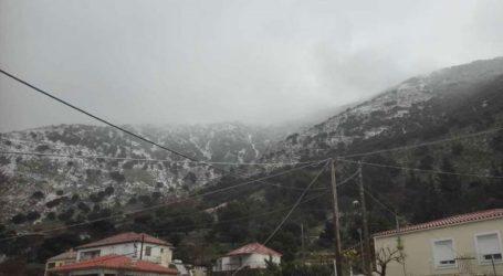 Χιόνια στις ορεινές περιοχές της Κεφαλονιάς
