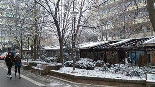 Πυκνή χιονόπτωση στη Λάρισα – Πού είναι απαραίτητη η χρήση αντιολισθητικών αλυσίδων
