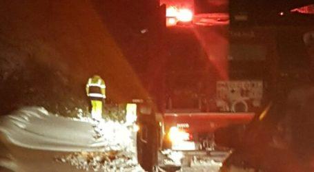 Απεγκλωβίστηκε οικογένεια που είχε παγιδευτεί στα χιόνια στην Πεντέλη