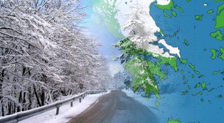 H μισή Ελλάδα έχει καλυφθεί από χιόνι