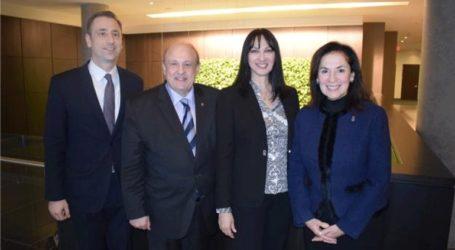 Συνάντηση της Έλενας Κουντουρά με τον υπουργό Τουρισμού του Οντάριο