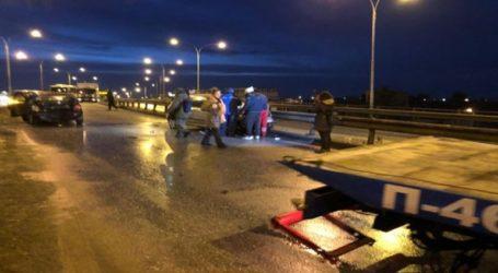 Μία καραμπόλα και μία σύγκρουση στη γέφυρα Κορδελιού Θεσσαλονίκης