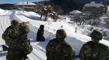 Ο Στρατός βγήκε στις περιοχές που επλήγησαν από τα ακραία καιρικά φαινόμενα