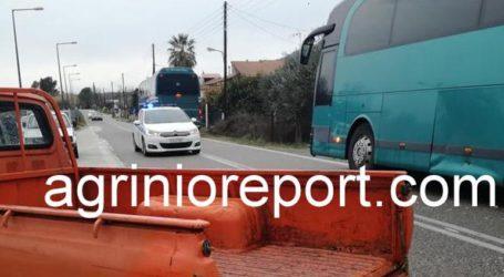Λεωφορείο του ΚΤΕΛ συγκρούστηκε με αγροτικό στην Ε.Ο. Αγρινίου