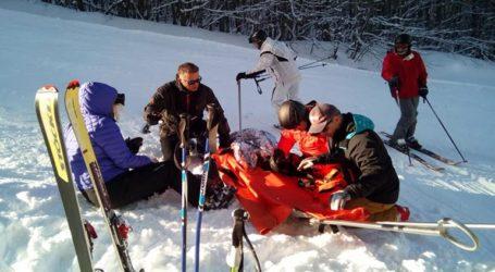 Δύο τραυματίες στο Χιονοδρομικό Κέντρο Πηλίου
